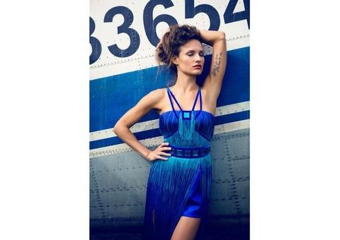 Платье синий градиент