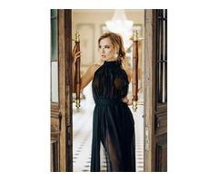 Черное будуарное платье