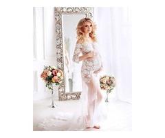 Белое будуарное платье