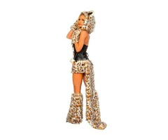 Кошка Леопардовая Меховая