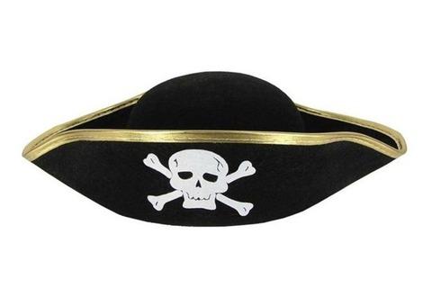 Пиратская треуголка с золотой каймо