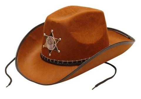 Шляпа шерифа, коричневая