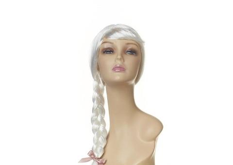 Парик коса снегурочки (белый)
