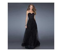 черное длинное платье
