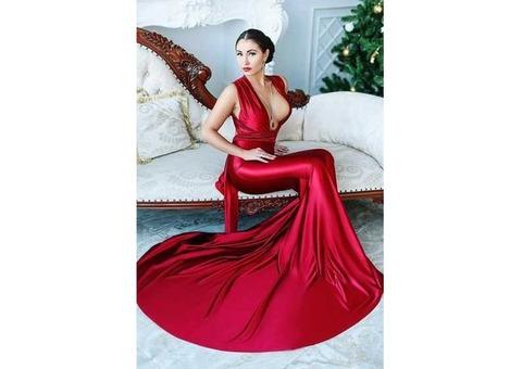 платье трансформер красное