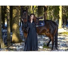 будуарное черное платье