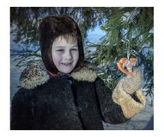 Шуба мутоновая на мальчика 4-5 лет
