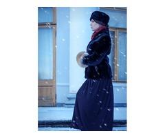 Женская шапка мутоновая черная
