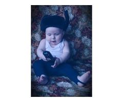 Шапка-ушанка для ребенка до 1 года.