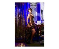 Шоколадное вечернее платье