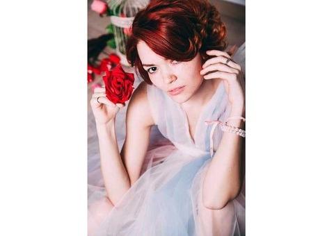 Нежное будуарное фатиновое платье