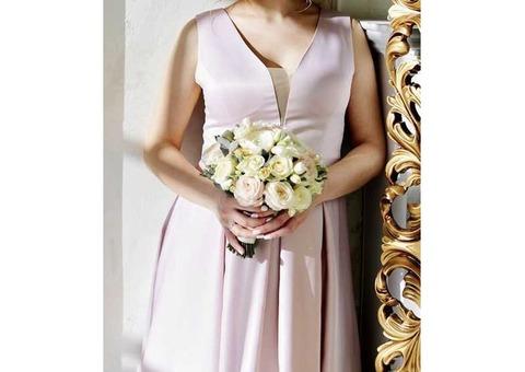 Платье свадебное нежно-розовое