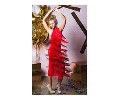 Платье макси с кисточками