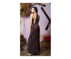 Платье макси с открытой спиной