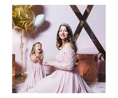 Нежно-розовый комплект мама+дочка