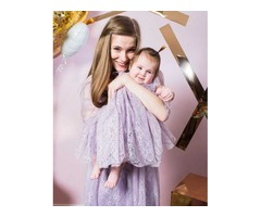 Нежный комплект мама+дочка