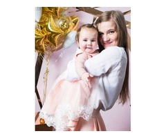 Персиковый комплект мама+дочка