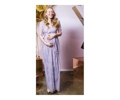 Фиолетовое платье для беременной
