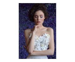 Белый комплект юбка + корсет