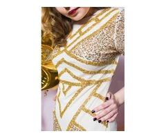 Декорированное облегающее платье