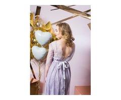 Нежно-фиолетовое платье