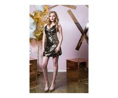 Платье с металлическими пайетками